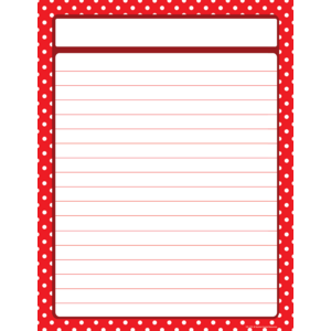 TCR7711 Red Polka Dots Lined Chart Image
