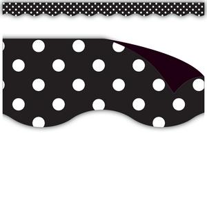 TCR77124 Black Polka Dots Magnetic Border Image