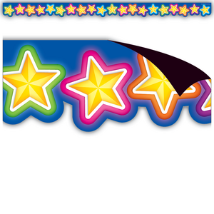 TCR77128 Neon Stars Magnetic Border Image