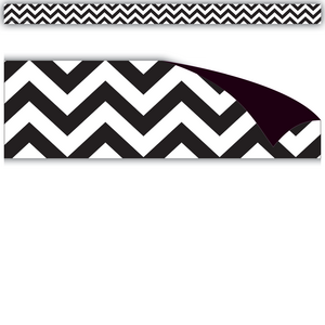 TCR77137 Black & White Chevron Magnetic Strips Image
