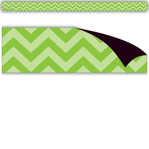 TCR77138 Lime Chevron Magnetic Strips Image