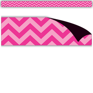 TCR77139 Hot Pink Chevron Magnetic Strips Image