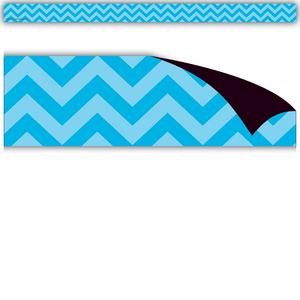 TCR77140 Aqua Chevron Magnetic Strips Image