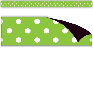 TCR77141 Lime Polka Dots Magnetic Strips Image