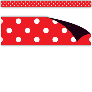 TCR77144 Red Polka Dots Magnetic Strips Image