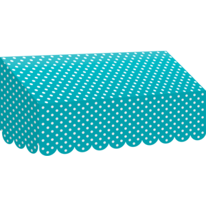 TCR77163 Teal Polka Dots Awning Image