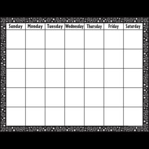 TCR7718 Black/White Crazy Circles Calendar Chart Image