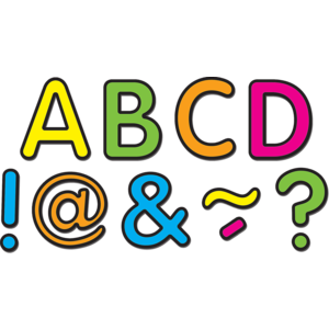 """TCR77189 Neon Brights Classic 2"""" Magnetic Letters Image"""