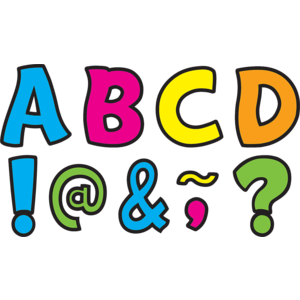 "TCR77217 Neon Brights Funtastic Font 3"" Magnetic Letters Image"
