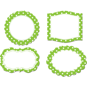 TCR77219 Lime Polka Dots Frames Magnetic Accents Image