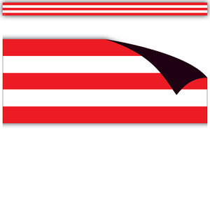 TCR77232 Red & White Stripes Magnetic Borders Image