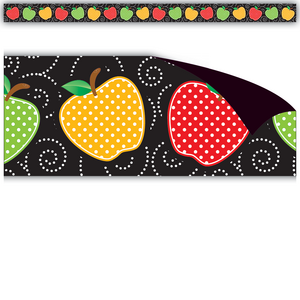 TCR77248 Dotty Apples Magnetic Border Image