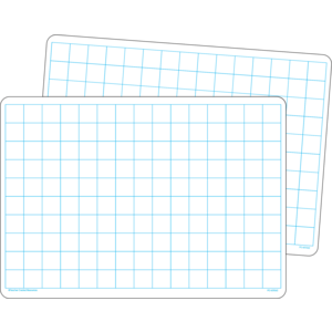 TCR77253 Double-Sided Math Grid Dry Erase Boards Image