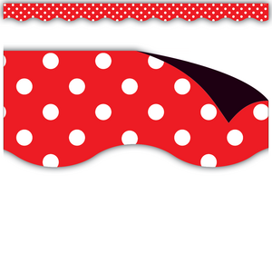TCR77255 Red Polka Dots Magnetic Border Image