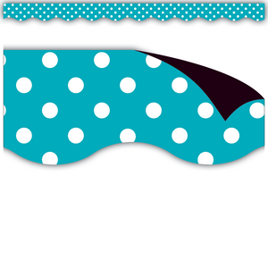 TCR77257 Teal Polka Dots Magnetic Border Image