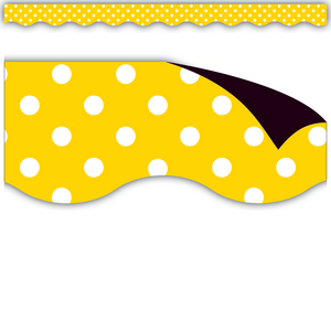 TCR77258 Yellow Polka Dots Magnetic Border Image