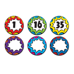 TCR77271 Superhero Numbers Magnetic Accents Image