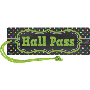 TCR77276 Chalkboard Brights Magnetic Hall Pass Image
