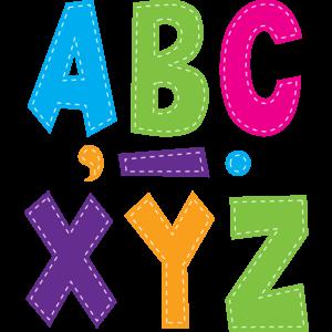 """TCR77281 Multi Bright Stitch 7"""" Fun Font Letters Image"""