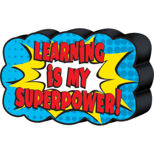 TCR77288 Superhero Magnetic Whiteboard Eraser Image