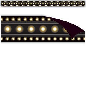 TCR77308 Black Marquee Magnetic Strips Image