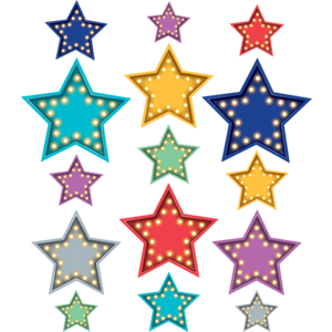TCR77318 Clingy Thingies Marquee Stars Accents Image