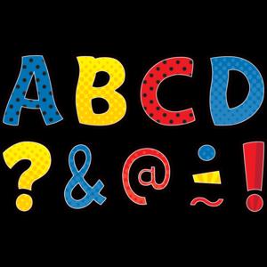 TCR77328 Clingy Thingies Superhero Funtastic Letters Image