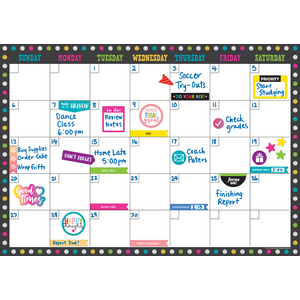 TCR77349 Clingy Thingies Chalkboard Brights Calendar Set Image