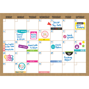 TCR77350 Clingy Thingies Burlap Calendar Set Image