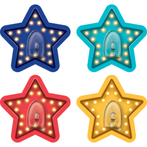 TCR77355 Clingy Thingies Marquee Stars Hooks Image