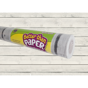 TCR77366 White Wood Better Than Paper Bulletin Board Roll Image