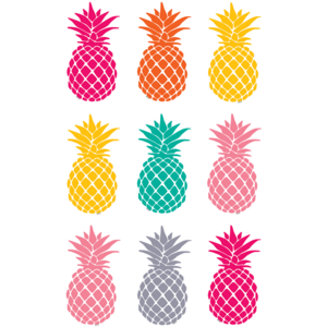 TCR77385 Tropical Punch Pineapples Magnetic Accents Image