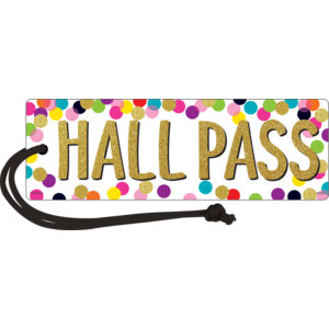 TCR77394 Confetti Magnetic Hall Pass Image