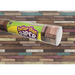 TCR77399 Reclaimed Wood Better Than Paper Bulletin Board Roll Image