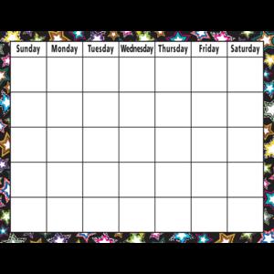 TCR7748 Fancy Stars Calendar Chart Image