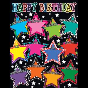 TCR7754 Fancy Stars Happy Birthday Chart Image
