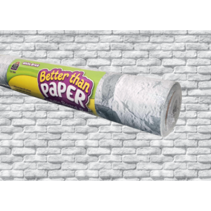 TCR77892 White Brick Better Than Paper Bulletin Board Roll Image