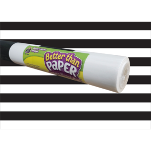 TCR77894 Black & White Stripes Better Than Paper Bulletin Board Roll Image