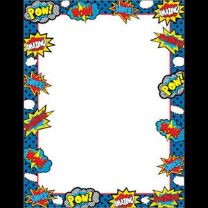 TCR7796 Superhero Blank Chart Image