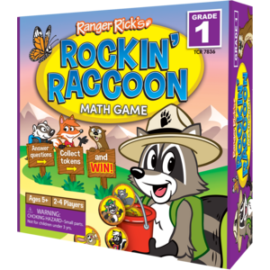 TCR7836 Ranger Rick Rockin' Raccoon Math Game Grade 1 Image
