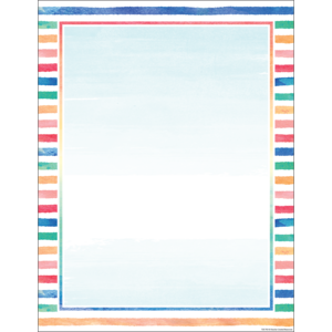 TCR7931 Watercolor Blank Chart Image