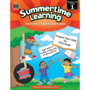 TCR8010 Summertime Learning Grade 1 - Spanish Directions Image