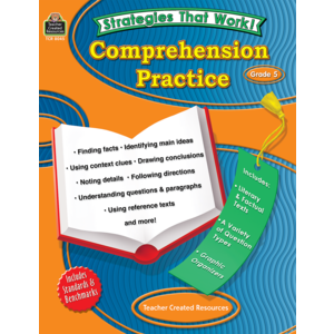 TCR8045 Strategies that Work: Comprehension Practice, Grade 5 Image