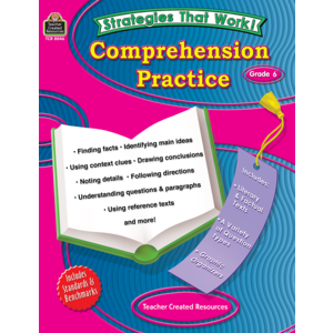 TCR8046 Strategies that Work: Comprehension Practice, Grade 6 Image