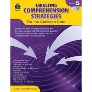 TCR8048 Targeting Comprehension Strategies for the Common Core Grade 5 Image