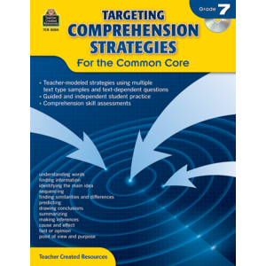 TCR8054 Targeting Comprehension Strategies for the Common Core Grade 7 Image