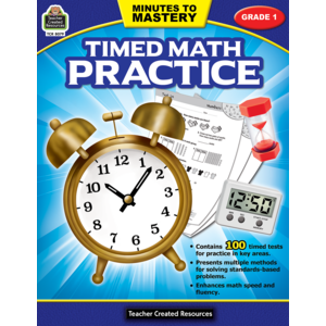 TCR8079 Minutes to Mastery - Timed Math Practice Grade 1 Image