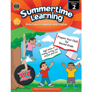 TCR8086 Summertime Learning Grade 2 - Spanish Directions Image