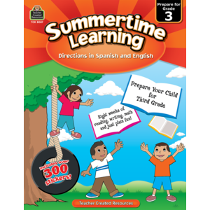 TCR8087 Summertime Learning Grade 3 - Spanish Directions Image