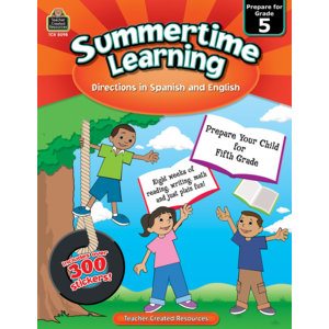 TCR8098 Summertime Learning Grade 5 - Spanish Directions Image